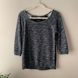 Black and gray heathered sweater - EXPRESS